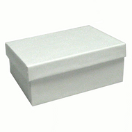 White Swirl Mid Size Paper Box with Cotton Fill