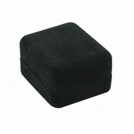 Black Ecosuede Pendant / Earring Box - Small 1