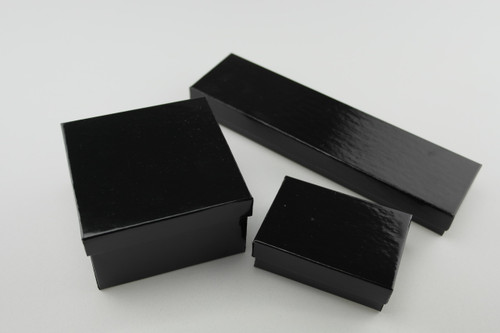 Shiny Black Paper Box Family