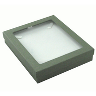Classic Grey Paper Necklace Box with Window