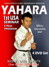 Yahara 1st USA SEMINAR 4 Volume Set 90 min each) by Mikio Yahara