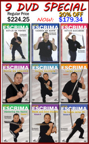GIRON ESCRIMA (Vol-1-9) 9 DVD Set (SPECIAL OFFER 20% Discount By Tony Somera