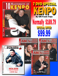 KENPO Karate SPECIAL OFFER 7 DVD Set SPECIAL By Grandmaster Frank Trejo