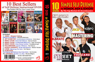 Simple Self Defense (10 DVD Set) For WOMEN, MEN & SENIORS By The Top Martial Art Grandmasters