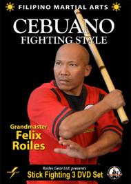 FILIPINO SEBUANO STICK FIGHTING Series (3 DVD Set) By Felix Roiles