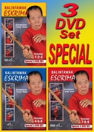 ATILLO BALINTAWAK ESKRIMA VOL-1-9 Special