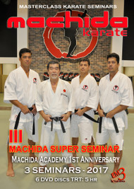 MACHIDA Karate III SUPER SEMINAR  6 DVD set
