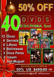 40 Escrima DVD SPECIAL 50% OFF