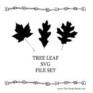 Tree Leaf svg and png set