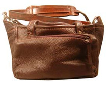 #416 Soft leather 4 box carrier with 2 side pockets, padded shoulder strap