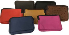 Zippered leather bag