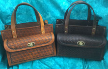 #422 firm leather 4 box carrier/front pkt was $225