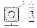 TUNGALOY CARBIDE SQUARE INSERT SDMB GRADE AH120 FOR STAINLESS STEEL