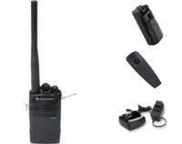 Motorola RDV5100 VHF Two Way Radio with Belt Clip, Charger, and Battery