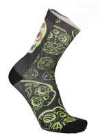 MB Wear Fun Socks Black Skull Unisize