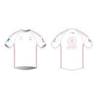 White Short Sleeve Running Shirt
