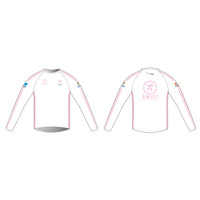 White Long Sleeve Running Shirt