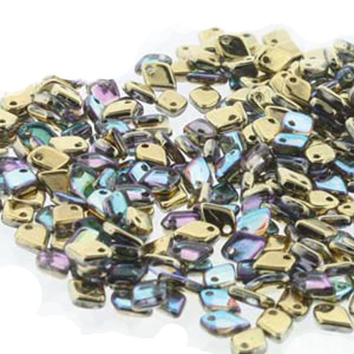 Crystal Golden Rainbow Czech Glass Dragon Scale Bead 1 5x5mm 9 5 Grams
