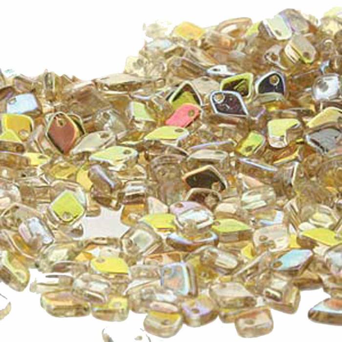 Crystal Lemon Rainbow Czech Glass Dragon Scale Bead 1 5x5mm 9 5 Grams