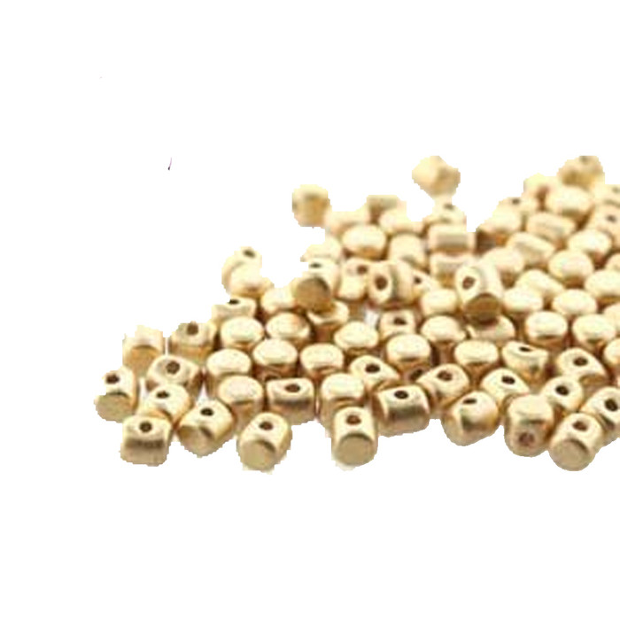 Lt Gold Matte MINOS® Par PUCA® 2 5x3mm Cylinder Czech Glass Beads 5 grams