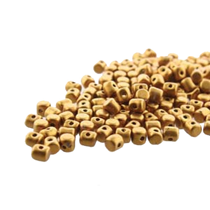Bronze Gold Matte MINOS® Par PUCA® 2 5x3mm Cylinder Czech Glass Beads 5 gr