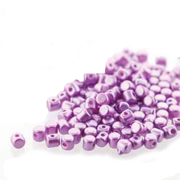 Pastel Lilac MINOS® Par PUCA® 2 5x3mm Cylinder Czech Glass Beads 5 grams