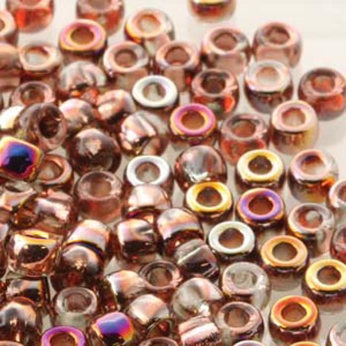 Matubo Czech Glass Seed Beads 7/0 (3.5mm) 50 Grams 1.5mm Hole (Crystal Sliperit)