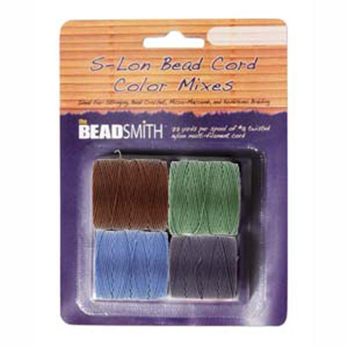4 Spools Super-lon #18 Nylon Beading Jewelry Stringing Cord S-lon Victorian