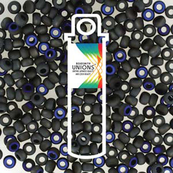 Black Azuro Matte Unions 15/0 Seed Beads Round Rocailles 8 Grams