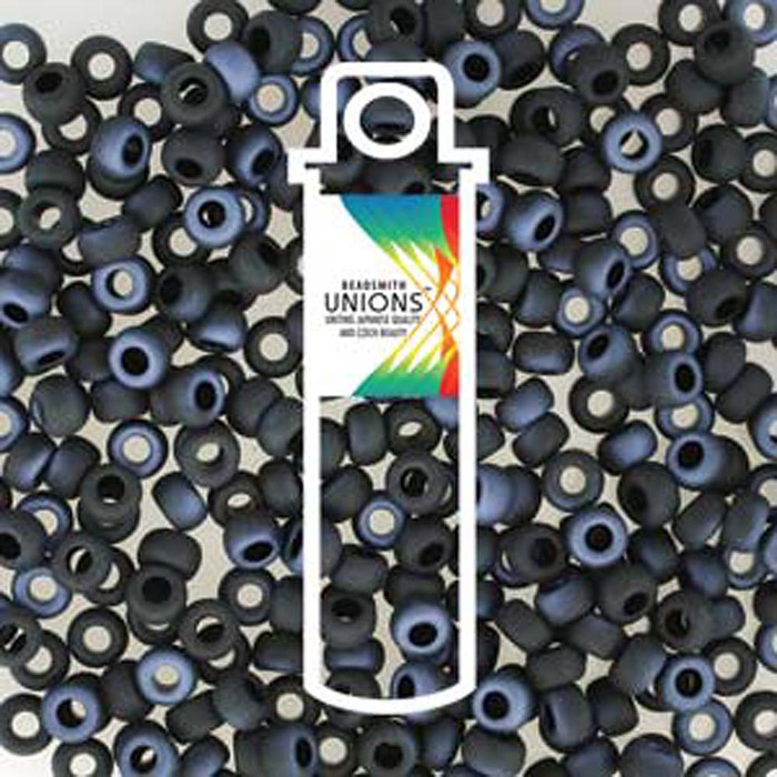Black Lagoon Mattee Unions 15/0 Seed Beads Round Rocailles 8 Grams