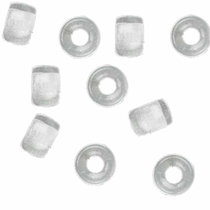 Crystal Clear 10pc Czech Glass Macrame & Leather Crow Beads 9x4mm 3mm Hole