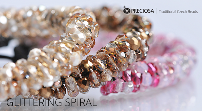 Glittering Spiral Free Jewelry Tutorial from Preciosa with Firepolish