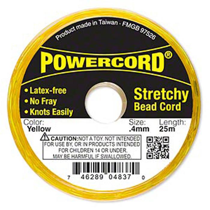 Powercord® Elastic Stretch Cord Orange 0.4mm 3.5-lb Test 25-Meter Latex-Free