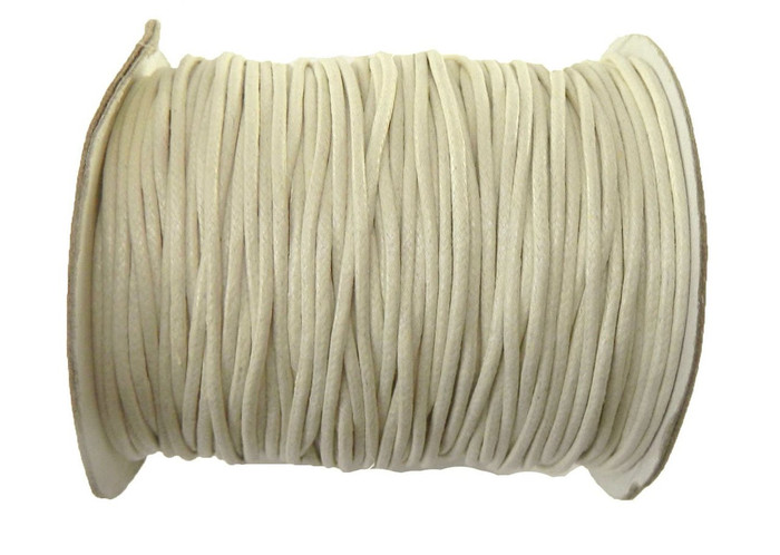 80 Yards Off White Cream Waxed Cotton Cord 2mm to 3mm for Bracelet/ Necklace 80 Meeter