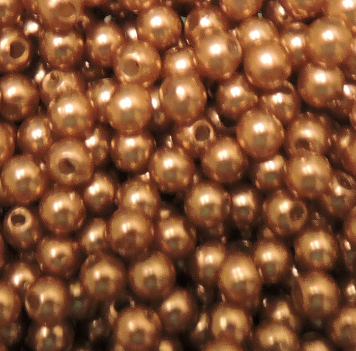 Brown 4mm Acrylic Round Beads Pearl Coated bags approx 500 beads