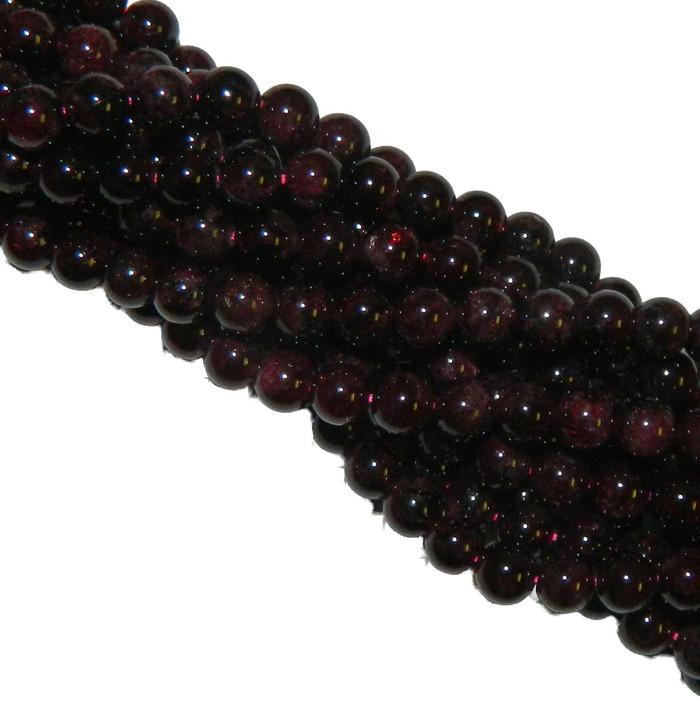 10mm Garnet Gemstone Round beads 15 Inch Loose Strand