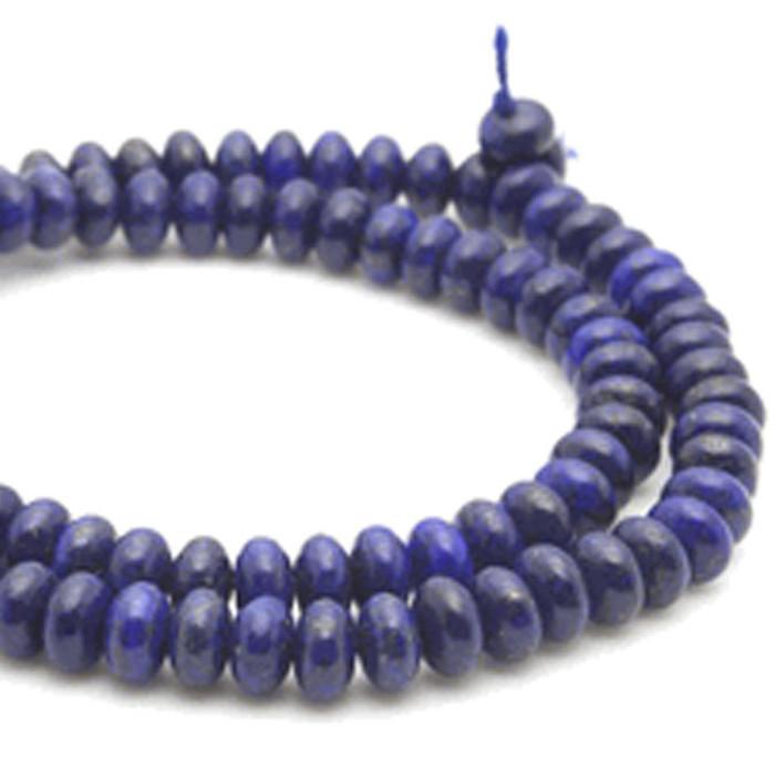 6mm Natural Lapis Lazuli Gemstone Rondelle Beads 15 Inch Loose Strand