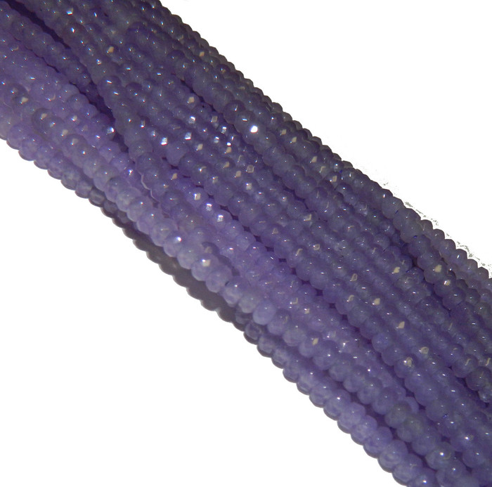 4mm Sky Agate Faceted Dyed Gemstone Rondelle Beads 15 Inch Loose