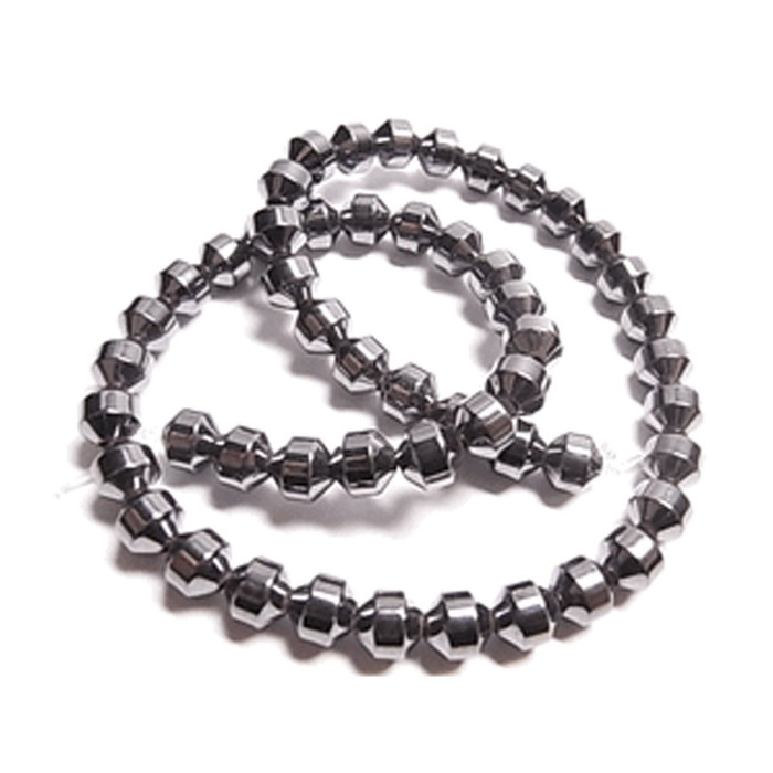 6mm Hematite Manmade Drum Beads 15 inch Loose Srand
