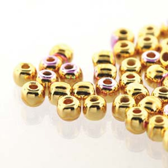 Round Druk True2s 2mm Czech Glass 24K Gold Plate Ab 600 Beads-Loose