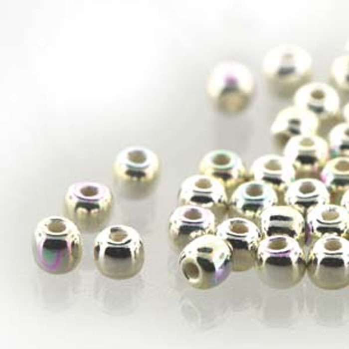 Round Druk True2s 2mm Czech Glass Fine Silver Plate Ab 600 Beads-Loose