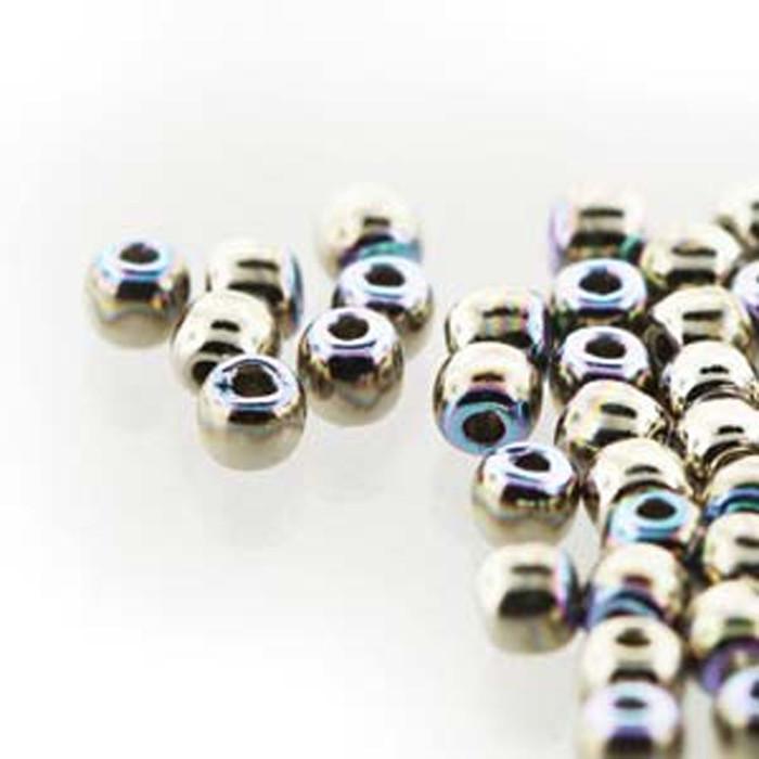 Round Druk True2s 2mm Czech Glass Nickel Plate Ab 600 Beads-Loose