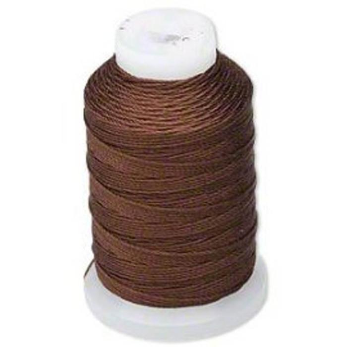 Silk Beading Thread Cord Size FF Chestnut 0.015 Inch 0.38mm Spool 115 Yd