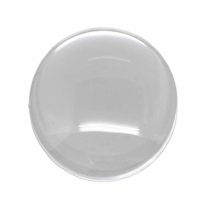 3 Clear Glass Dome Tile Cabochon Clear 30mm 1.18 Inch Non-calibrated Round