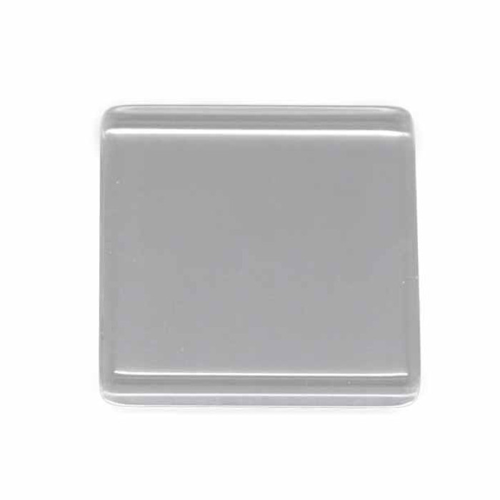 "3 Clear Glass Tile Cabochon Clear 25x25mm 1"" Non-calibrated Square"