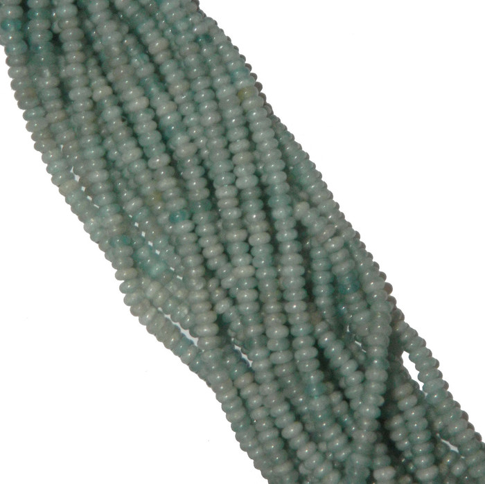 Amazonite 4mm Faceted Natural Gemstone Rondelle Beads 15 Inch Loose
