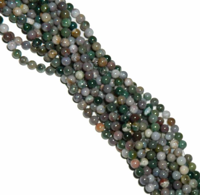 4mm Blood Agate Fancy Jasper Round Beads Gemstone Beads 15 inch