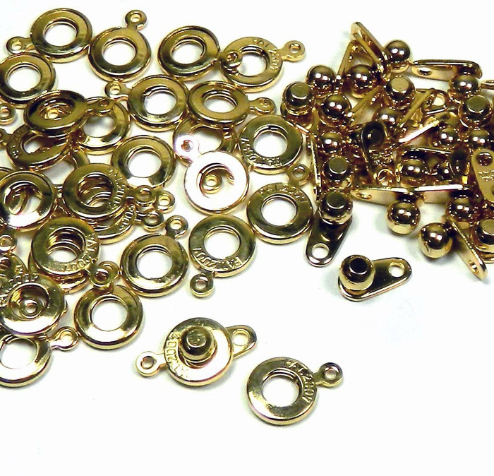 Premium Weight Ball & Socket Clasp 6mm Gold 36 Clasps Findings