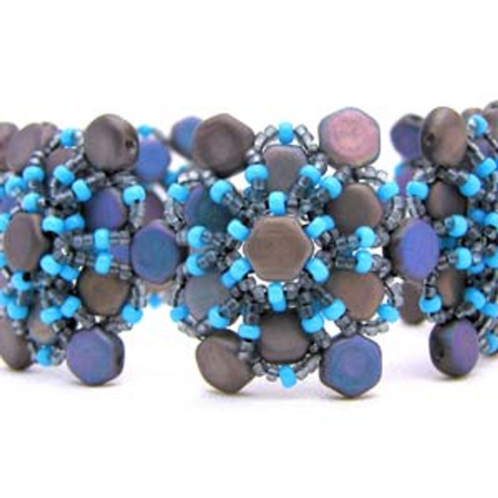 Honey's Flower Bracelet Free Jewelry Making Project complements of Bead Smith(R)