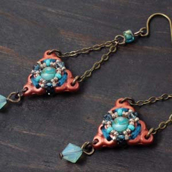 MANDALA EARRINGS Free Jewelry Making Project complements of Bead Smith(R)